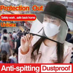 Unissex Mulheres Homens Dustproof Tampa repicado Máscara Cap Hat Prevent Saliva Hat Adulto Anti-cuspindo proteção preta Pescador Tampão