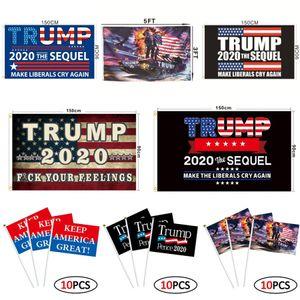 Trump Bayrağı 90 * 150cm 55 Stiller Biden Bernie Donald Trump 2020 Tank Amerikan Cumhurbaşkanlığı Seçim Trump El Bayraklar OOA8102
