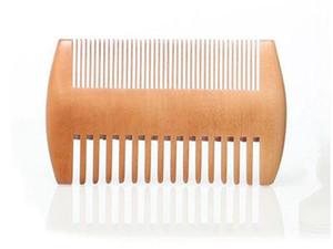 Fein Grob Tooth Doppelseitige Holzkamm Holzhaar Scorpion Comb doppelte Seiten Bart Kamm für Männer
