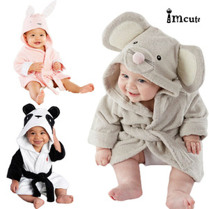 2019 New Hot Sale Baby Kids Animal Cartoon Hooded Bath Towel Bathrobe Wrap Bathing Robe 6M-5Y
