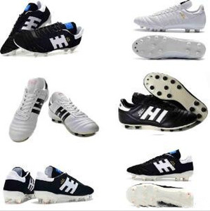 Copa Mundial en cuir FG chaussures de football 70Y FG chaussures de football 2019 Coupe du Monde de Football Bottes de Football Taille 39-45 Noir Blanc Orange Botines futbol