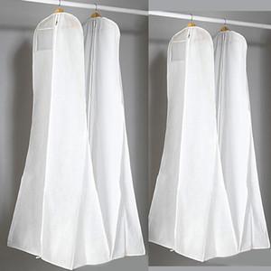 الجملة كبيرة 180 سنتيمتر الزفاف مساء حزب اللباس حقائب عالية الجودة الأبيض حقيبة الغبار غطاء طويل الملابس تخزين السفر الغبار يغطي حار بيع