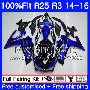 حقن أسود الجسم لياماها YZF R3 R25 YZF-R3 YZFR25 14 15 16 17 240HM.9 YZF-R25 R 25 YZFR3 الأسهم الأزرق 2014 2015 2016 2017 Fairings kit