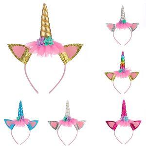 Unicorn Head Hoop Many Color Halloween Hairpin Niños Juguetes Fiesta de cumpleaños Fiesta Baby Hair Hoop Venta directa de fábrica 3 8lta p1