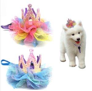 Einstellbare Hund Geburtstags-Hut-glänzende Partei Kostüm Haustier Prinzessin Hat Tierzubehör Crown Hut für Small Medium Large Dog