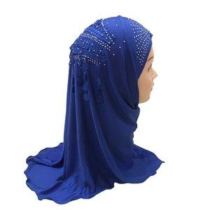 Ethnic Clothing 12pcs One Dozen Muslim Girls Hijab Kids Islamic Scarf Shawls With Beautiful Embroidery Diamond Tassel Wholesale