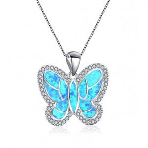 Оптом 10 шт. Посеребренная бабочка формы подвеска много цветов Опалит опал ожерелье для юбилей