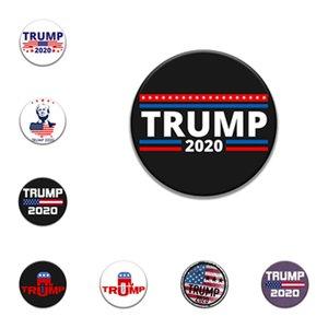 Trump Gedenk-Abzeichen Broschen Stifte 2020 US-amerikanischen Wahlen Supplies Trump Abzeichen US-Flagge Partei Versorgungs favorT2I5961