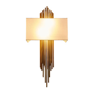 Luxury Style Art Decoration LED Wall Lamp Bedroom Bedside Aisle Indoor Home Light Fixture Gold Plated Wall Lamp 6W E14 Lamp for Living Room