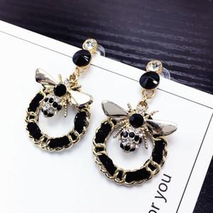 Perles Bee long Marque Designer Luxe Bijoux Pendientes Boucles d'oreilles Déclaration pour les femmes Mujer Brincos