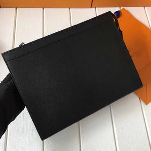 En iyi Marka Yeni Erkek Debriyaj Çanta Tuvalet Kılıfı Çanta Yıkama Torbası Makyaj Kutusu Hakiki Deri Erkek Çanta Çanta Çanta Zippy Çanta 27 cm M61692 N41696