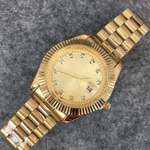 2020 최고 브랜드 명품 시계 남성 자동 달력 블랙 베이 새로운 디자이너 다이아몬드 시계 높은 품질 여성 드레스 골드 시계 Reloj Mujer