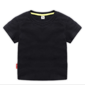 2019 Fashion Kids 1-9 years t Shirt Children Lapel Short sleeves T shirt Boys girl Tops Clothing Brands Solid Tees Girls Cotton shirts erioe