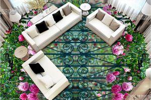 3 일 거실에 벽에 바닥 그림 벽지에 볼륨 3D 바닥 등나무 브라 이어 꽃