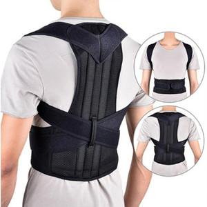 Uomini Donne Brace Torna cintura di sostegno lombare regolabile corpo del correttore di posizione spalla Corrector ortopedico della colonna vertebrale della vita della cinghia di sostegno M14Y