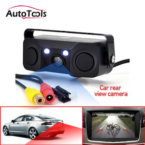 Parking Sensors 3 in 1 Car Parking sensor Rear View Camera with 2 Sensors Indicator buzzer Alarm Car Reverse Radar Assistance System
