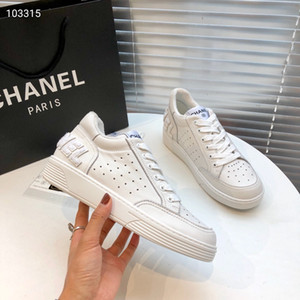 2020 nuevo estilo genuino zapatillas de deporte blancas de las mujeres de cuero Luxurys damas zapatillas de deporte populares marcas de diseñadores zapatillas de deporte (con la caja) 35-41 euros