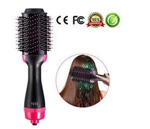 2 em 1 multifuncional Secador de cabelo escova de cabelo rolo rotativo Rodar Styler pente Alisamento Ferro de ondulação, pente ar quente