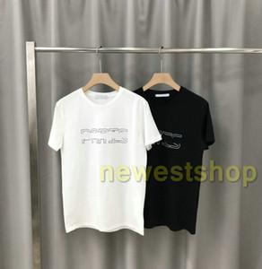 2020 nouvel été paris de luxe de Mens T-shirt de vêtements de mode lettre T-shirt imprimé shirt de qualité à manches courtes Casual Tops Tee