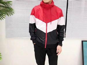 Mode-Designer-Jacke Mode-Männer Jacken-Mantel Hoodie der Männer beiläufige aktive Outdoor-Schwarz Rot Windschutzkleidung S-2XL