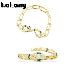Kakany 2020 New Perfect Fashion High-quality Multi-snake Green Charm Bracelet Cubic Laid Zirconia Luxury Female Jewelry