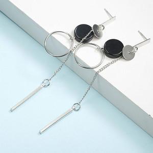 Hot Dangle earring Long Tassel Unisex Hoop women Earrings Punk Metal Jewelry Brincos Cross women earring Pendant Exaggerate Design