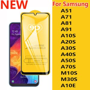 Screen Phone nuova 9D completa Colla copertura completa di vetro temperato Protector per Samsung Galaxy A51 A71 A81 A91 A10S A20S A30S A40S A50S A70S M10S M30S