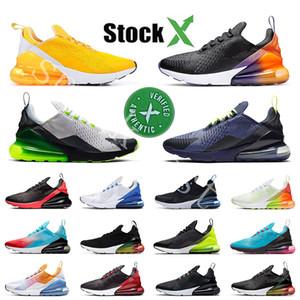 2020 En Stock X Université d'or arc-en-270 Coussin Hommes Chaussures Platinum 270S Sport Designer Chaussures de course 27c Femmes Entraîneur Taille 36-45