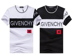 2019 mais recente estilo T-shirt, casual homens impresso moda de manga curta T-shirt, qualidade de algodão de alta qualidade W1 31
