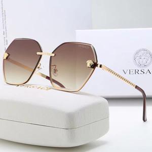 Neue Ankunft 2019 Marken-Sonnenbrille für Männer Frauen Büffelhornbrille randlos Designer Bambusholz Sonnenbrille mit Kasten Fall Lünetten