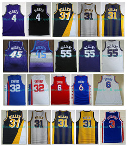 NCAA Basketball Reggie 31 Miller Jersey Jason Williams 55 Drazen Petrovic Donovan 45 Mitchell Julius Erving 6 Chris Webber Julius Erving 32
