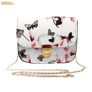 Hot Butterfly Purse Handbag Flower Printing Tote Shoulder Messenger Bag Ladies Purse Mini Small Package Y