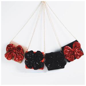 Девочки блесток большой лук сумка искусственная кожа мультфильм милые дети Мини сумка бутик лук-узел портмоне сумка