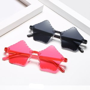 Children's Styles PC Star Shape Sunglasses Candy Color Frameless One Piece Glasses Shades Kids Street Shot Sun Glasses Eyewear Accessory
