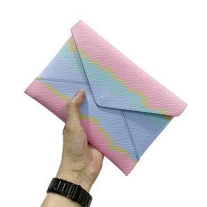 Bolso de embrague de cuero de lujo de los bolsos bolsos de diseño bolso del diseñador de bolsos de lujo mensaje Pochette Mini Pochette Envelope Higiene bolsa 1985