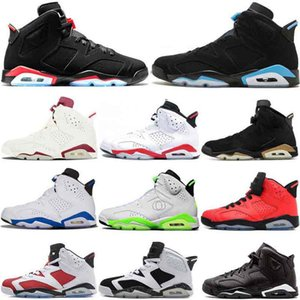stock6 Siyah Kızılötesi 3M UNC Basketbol Ayakkabı Erkekler DMP Carmine Oreo Olimpiyat Kızgın boğa Sport Mavi Spor Spor ayakkabılar Yansıtan 6S