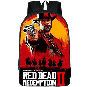 John Marston backpack Red Dead 데이 팟쿠 Redemption play schoolbag 게임 그림 프린트 배낭 스포츠 스쿨 백 아웃 데이 팩