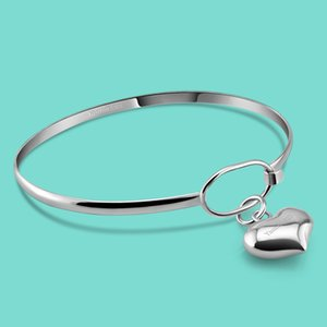 Браслет часы Classique En серебряного залить роковой 925 браслет Кер En серебряного массива браслет открытую Филь бижутерии ласты браслеты pulseira подарок T200422