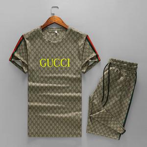 2020 New Tracksuits Fashion t shirt+short pants suits Men Sports Suit Letter printing Slim Hoodies Clothing mens designer tracksuit