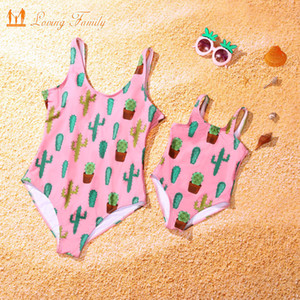 Family Matching Swimwear Family Look Mother Daughter Swimsuit One Piece Mommy And Me Clothes Mom And Daughter Bathing Suit