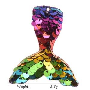 18pcs Sequin Mermaid Accessory 5cm*6cm Mermaid tail Hair Accessories Cute Mermaid Accessories Glitter Headwear No Hair Bow