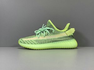 Top Quality Yeezreel Non-Reflective Athletic Designer Shoes Green Black Kanye West Fashion Chaussures Trainers Come With Box