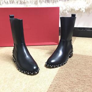 Valentino shoes Rose rouge Camo dames femmes Bottes d'hiver pour hommes Bottes de travail en cuir imperméable Bottes de pluie Hiki de fgc19082202