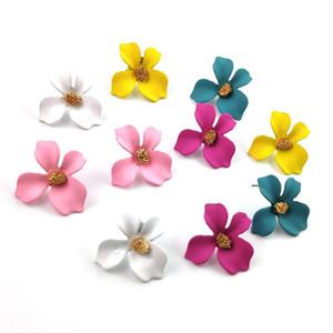 Couleur bonbons personnalisés Fleur dormeuses Nouveau Mode Petite Fleur Boucles d'oreilles pour les femmes filles Corée du style Bijoux