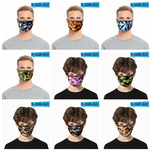 Camouflage mask thin face dust masks for men and women mouth cover outdoor protective dustproof masks FFA4127