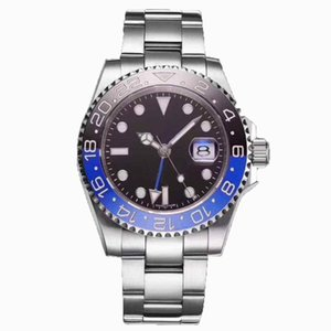 Top luxury designer GMT 116710 series black dial two-way rotation outer ring automatic mechanical men's folding buckle stainless steel watch