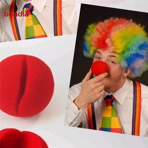5см Прелестный Red Ball Губка Clown Nose для партии Свадебные украшения Рождество Хеллоуин костюм Волшебное платье аксессуары