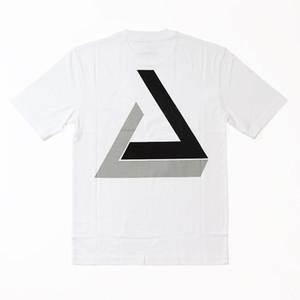 18FW PAL Penrose Triângulo Tri-Sombra T-shirt Skate Moda Casual Simples Rua de Manga Curta Verão Respirável Ao Ar Livre Tee HFTTTX029