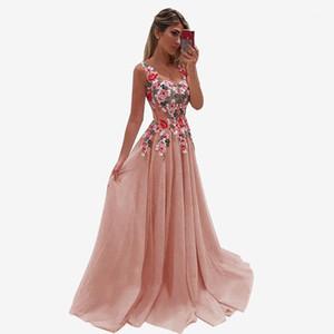 women Chain flower christmas summer dresses party night maxi dress bodycon sukienka Lace 5XL sexy pink SUPRE plus size wedding1