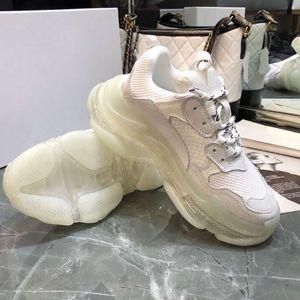 Bej Retro Üçlü S Lüks Sneakers Kadınlar Düşük Rahat Ayakkabılar Tops erkekler Chunck Hava Taban Rahat Sneaker Tasarımcı Üçlü S Ayakkabı